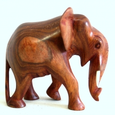 Afrikanischer Elefant Edo aus Holz