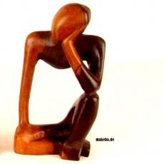 Afrikanische Figur aus Ebenholz. Denker.
