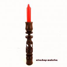 Kerzenhalter aus Ebenholz. Afrika. Aus Ghana vom Stamm der Akan