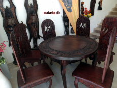 Afrikanischer Steckstuhl aus Odum - Holz (african teak)