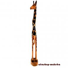 Giraffe, Afrikanische Tierfigur aus Odum-Holz (Iroko, afrikanisches Teakholz)