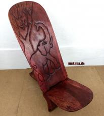 Steckstuhl, Elefant_Motiv  Afrika, Wickinger Stuhl, Odum - Holz (african teak), klein