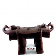 Elefanten - Kopf - Hocker, doppelseitig, Westafrika, Odum - Holz (african teak)
