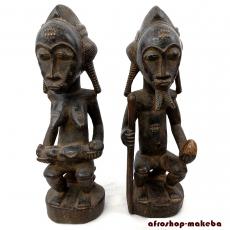 Baule Paar,sitzend, Mann (blolo bian) und Frau (blolo bla) von der Côte dIvoire (Elfenbeinküste)