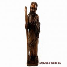 Schäfer.  Afrikanische handgeschnitzte Holzfigur aus Ghana. Hirte