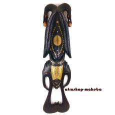 Ashanti Maske, Ghana, große Holzmaske für die Wand