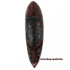 Afrika Maske der Ashanti Sankofa-Motiv. Afrikanische Gesichtsmaske aus Ghana.