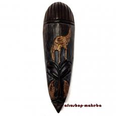 Moderne Afrikanische Gesichtsmaske aus Ghana. Moderne Afrika Maske der Ashanti Vogel-Motiv
