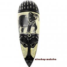 Afrikanische Maske Elefantenmotiv der Ashanti aus Ghana. Moderne Afrika Maske.