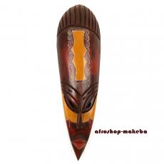 Moderne Afrikanische Gesichtsmaske aus Ghana. Moderne Afrika Maske der Ashanti TAMFO BEBREMotiv