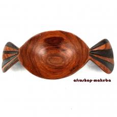 Obstschale Schleife aus Teakholz, Dekorationsschale, Aufbewahrungsschale, Bonbon-Schale