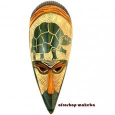 Afrikanische Maske Schildkröte-Motiv der Ashanti aus Ghana. Moderne Afrika Maske.