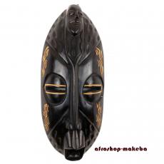 Gesichtsmaske der Ashanti aus Ghana. Moderne Afrika Maske. Wandmaske. Holzmaske Deko-Maske