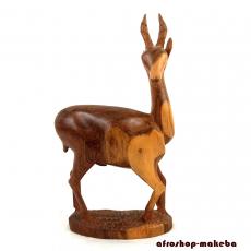 Antilope, Impala aus Teakholz. Ghana/Afrika