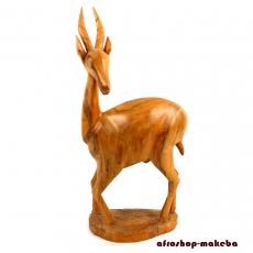 Antilope, Impala aus Odum(afrikanisches Teakholz). Ghana/Afrika