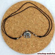 Halskette mit Elefant-Anhänger