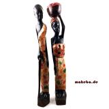 Afrikaner und Afrikanerin in traditionellen ghanaischen Gewand.