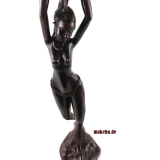 Bronzeguss-Figur, Frauenfigur - African Shower