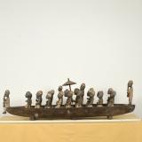 Sklaven - Boot aus Afrika - Ghana, Ruderboot
