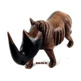 Nashorn, Rhino Holznashorn aus Ebenholz, Afrika ,Ghana