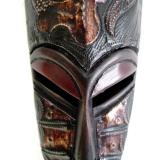 Afrika Maske der Ashanti Gye Nyame Afrikanische Gesichtsmaske aus Ghana.