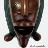 Große moderne afrikanische Maske, Standmaske aus Mahagoni