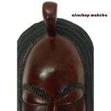 Moderne afrikanische Maske der Mandinka aus Mahagoni