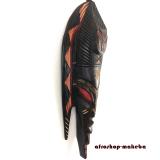 Maske aus Ghana. Afrikanische Fischmaske aus Sese-Holz. Moderne Afrika Maske.