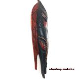 Afrikanische Ashanti Fischmaske aus Ghana. Moderne Afrika Maske.