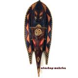 Afrikanische Fischmaske aus Ghana. Moderne Afrika Maske.