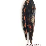 Afrikanische Fischmaske der Ashanti aus Ghana. Moderne Afrika Maske.