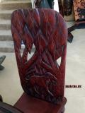 Esstisch-Gruppe mit 6 Steckstühlen, Mahagoni-Massivholz,  sehr aufwendig beschnitzt