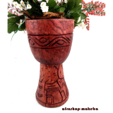 Djembe-Korpus, medium, Phantasiemotiv aus Odum - Holz (african teak),