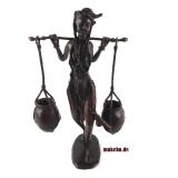Bronzeguss-Figur, Afrikanische Wasserträgerin