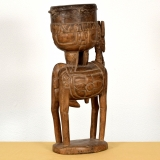 Afrikanische Figur der Bambara aus Mali, Antilope mit Trommel (12)