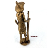 Bronzeguss-Figur, Jäger aus Afrika, Gelbguss-Figur