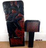 Steckstuhl aus Afrika, Wickinger Stuhl, Odum - Holz (african teak), Elefant nach rechts ausgerichtet