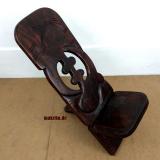 Steckstuhl, original Westafrika, Wickinger Stuhl, Sese-Holz