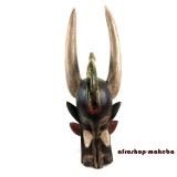 Kponungo-Maske der Senufo. Firespitter Maske - traditionelle afrikanische Maske vom Stamm der Senufo.