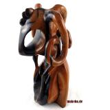Afrikanische abstrakte Figur aus Ebenholz. Shakara, Dämonenabbild, Nigeria