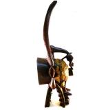 Firespitter Maske - traditionelle afrikanische Maske der Senufo, in neuer Ausführung. Kponungo-Maske der Senufo.