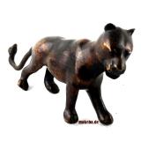 Bronzeguss, Löwin, Gelbguss Löwe weiblich