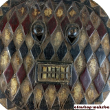 Kple-Kple Maske der Baule, Elfenbeinküste, Mitte 20. Jh.