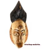 Maske der Punu. Okuyi-Maske aus Gabun. Originale traditionelle afrikanische Maske.