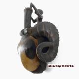Afrika-Maske der Baule, Widderkopf, Traditionelle Baule-Maske von der Elfenbeinküste.