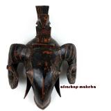 Maske der Baule, Widderkopf, Traditionelle Baule-Maske von der Elfenbeinküste.