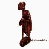 Schäfer, Ziegenhirt, Schafhirt. Afrikanische handgeschnitzte Holzfigur aus Ghana.