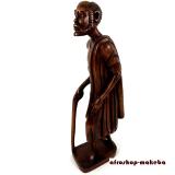 Wanderer. Afrikanische handgeschnitzte Holzfigur aus Ghana.