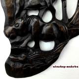 Wandrelief Afrika aus Odum Holz, geschnitztes Wandbild, Holzwandrelief