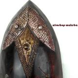 Afrikanische Gesichtsmaske aus Ghana. Moderne Afrika Maske der Ashanti